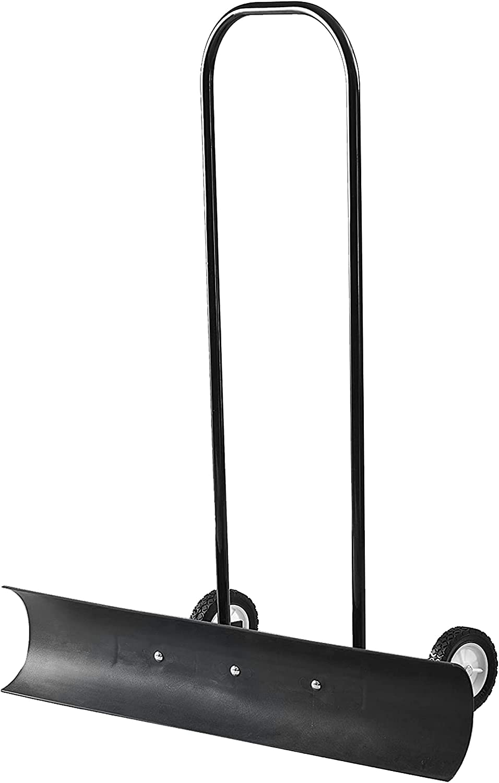 The Snowcaster 70SNC 36-Inch Heavy Duty Bi-Directional Wheeled Snow Pusher, Black
