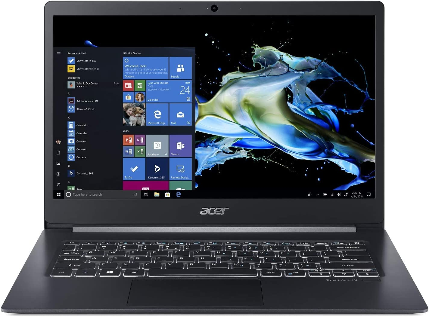 Acer 14T Ci78565 16G 512SSDW10P, Black, 14-14.99 inches