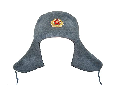 e73494ac752 Buy Hat Russian Soviet Imperial Eagle Gray KGB  Fur Military Cossack Ushanka   Size M Online at Low Prices in India - Amazon.in