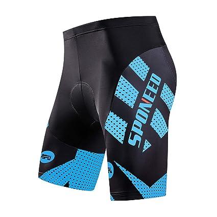 dd2a3fa20f55c sponeed Cycling Shorts for Men Cycle Bike Pants Riding Anti-Slip Road Biking  3D Gel