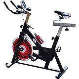 homcom Cyclette per Spinning Professionale Training Cardio Bike 105 × 45 × 95cm Nero
