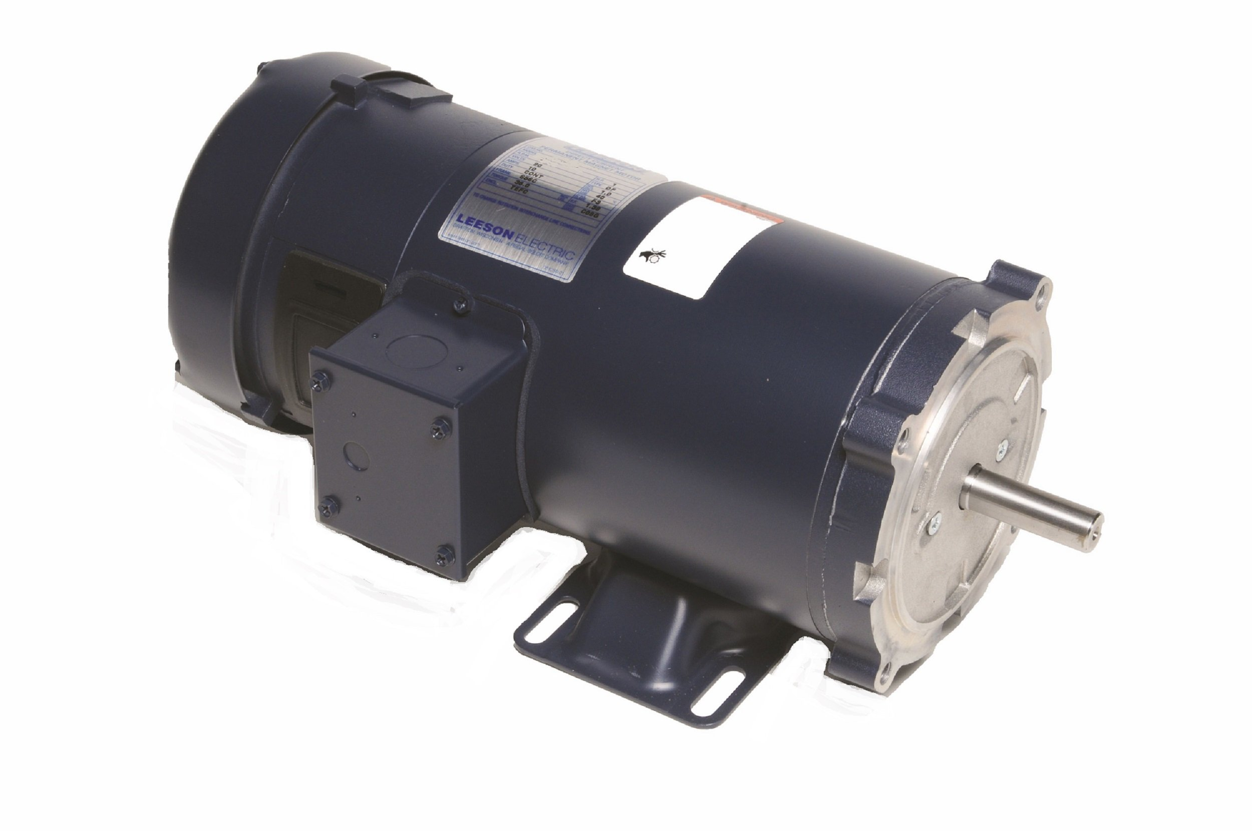 Leeson 108092.00 SCR Rated DC Motor, 56C Frame, C-Face Rigid Mounting, 1 1/2HP, 1750 RPM,  180V Voltage