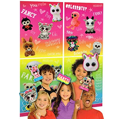 Beanie Boos Wall Poster Decorating Kit w/Photo Props (16pc): Toys & Games