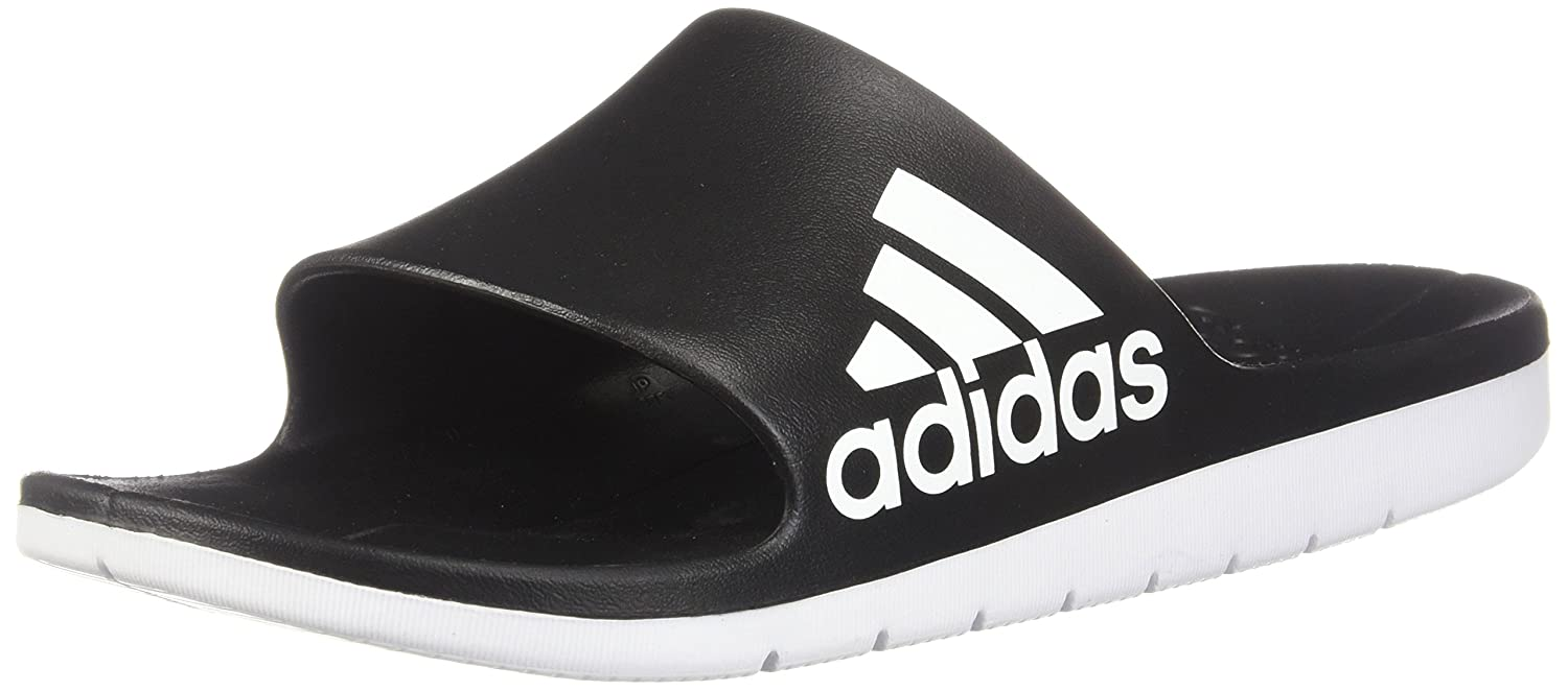 771aa2159a0993 adidas Men Sandals Swimming Aqualette Cloudfoam Slides Pool Beach CM7928  (EU 40 1 2 - UK 7 - US 7) Black  Amazon.co.uk  Shoes   Bags