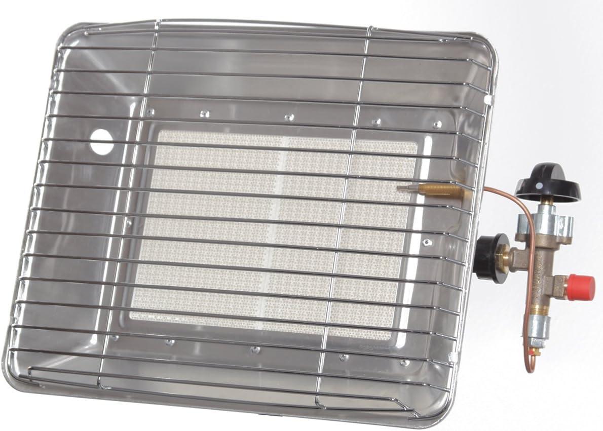 Radiador de gas con protección de encendido, soporte de 4,2 kW, manguera, reductor de presión