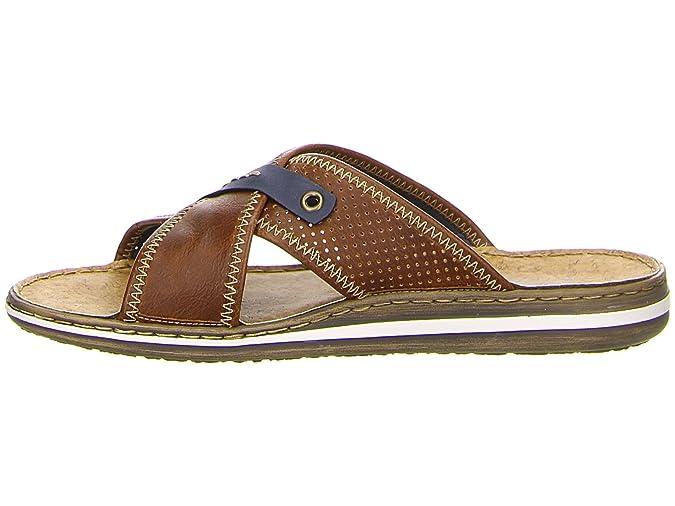 fe5c6e48fdbd Rieker Mens Shoes 21061 Men s Sandals Clogs   Mules Leather Inner Sole   Amazon.co.uk  Shoes   Bags