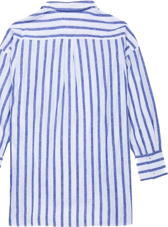 Tommy Hilfiger Camisa Tjw Oversized Stripe Blanca S 901BLUE Print/Bright White: Amazon.es: Ropa y accesorios