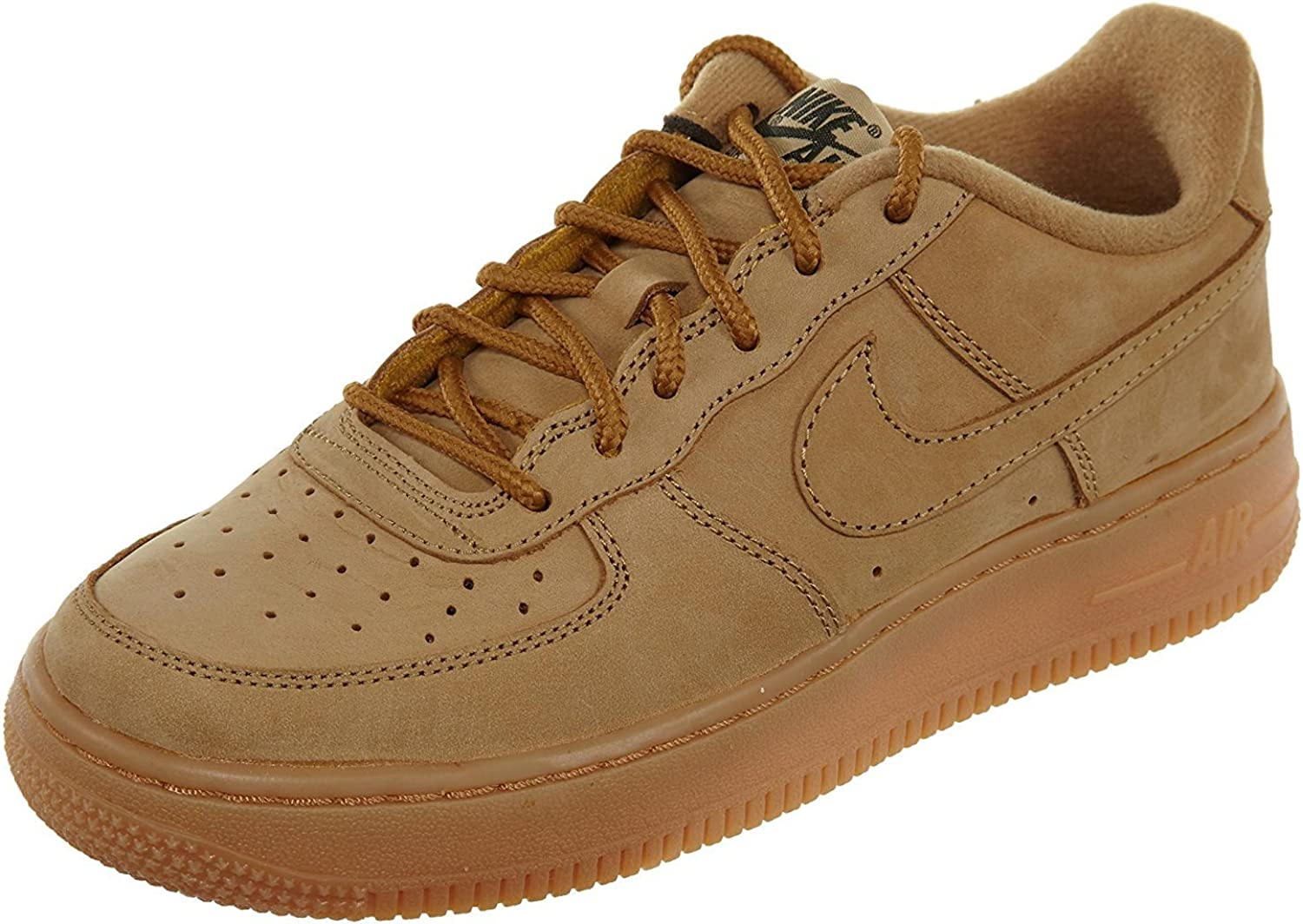 completar Favor ajo  Nike Air Force 1 Winter Premium GS Kids Trainers Wheat - 4 UK:  Amazon.co.uk: Shoes & Bags