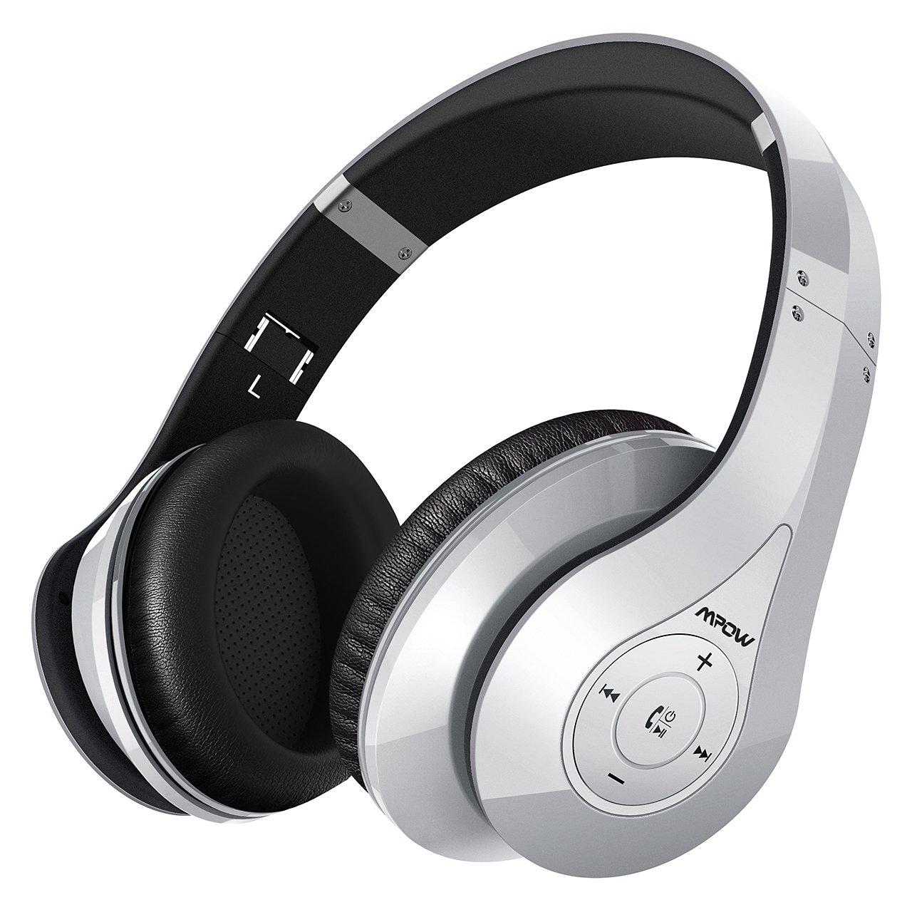 Mpow 059,Auriculares Bluetooth de Diadema Inalámbricos,Cascos Bluetooth Plegable con Micrófono Manos Libres y Hi-Fi Sonido Estéreo 20hrs Reproducción de ...