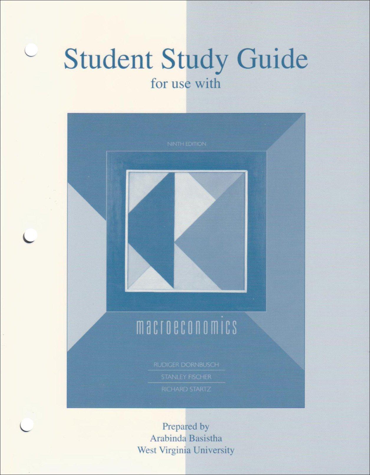 Student Study Guide t/a Macroeconomics 9e: R. Dornbusch, Stanley Fischer,  Richard Startz: 9780072981827: Books - Amazon.ca