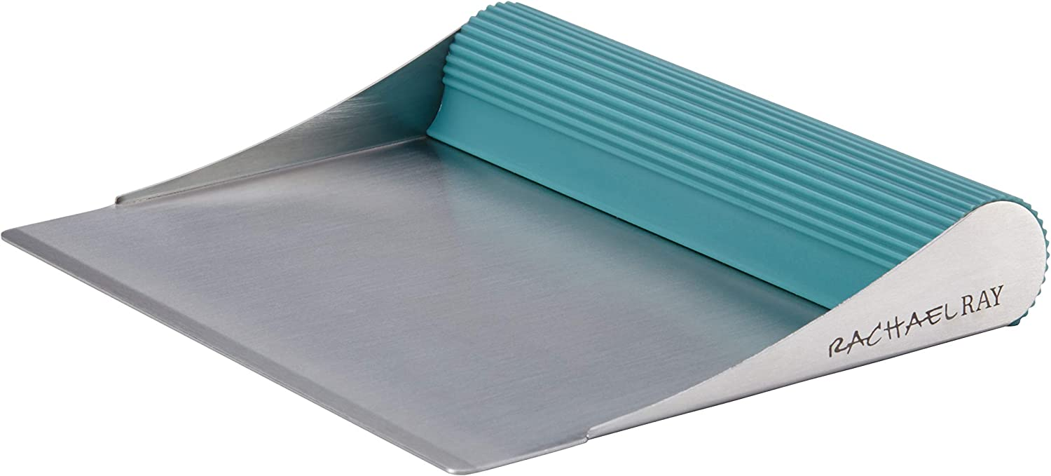 Rachael Ray Cucina Tools & Gadgets Bench Scrape, Agave Blue -: Kitchen & Dining