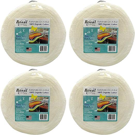 ,Off-White Summer 3 oz 2-1//2 inch by 25 yards 1 Roll Bosal Katahdin Batting On-A-Roll 100/% Organic Cotton