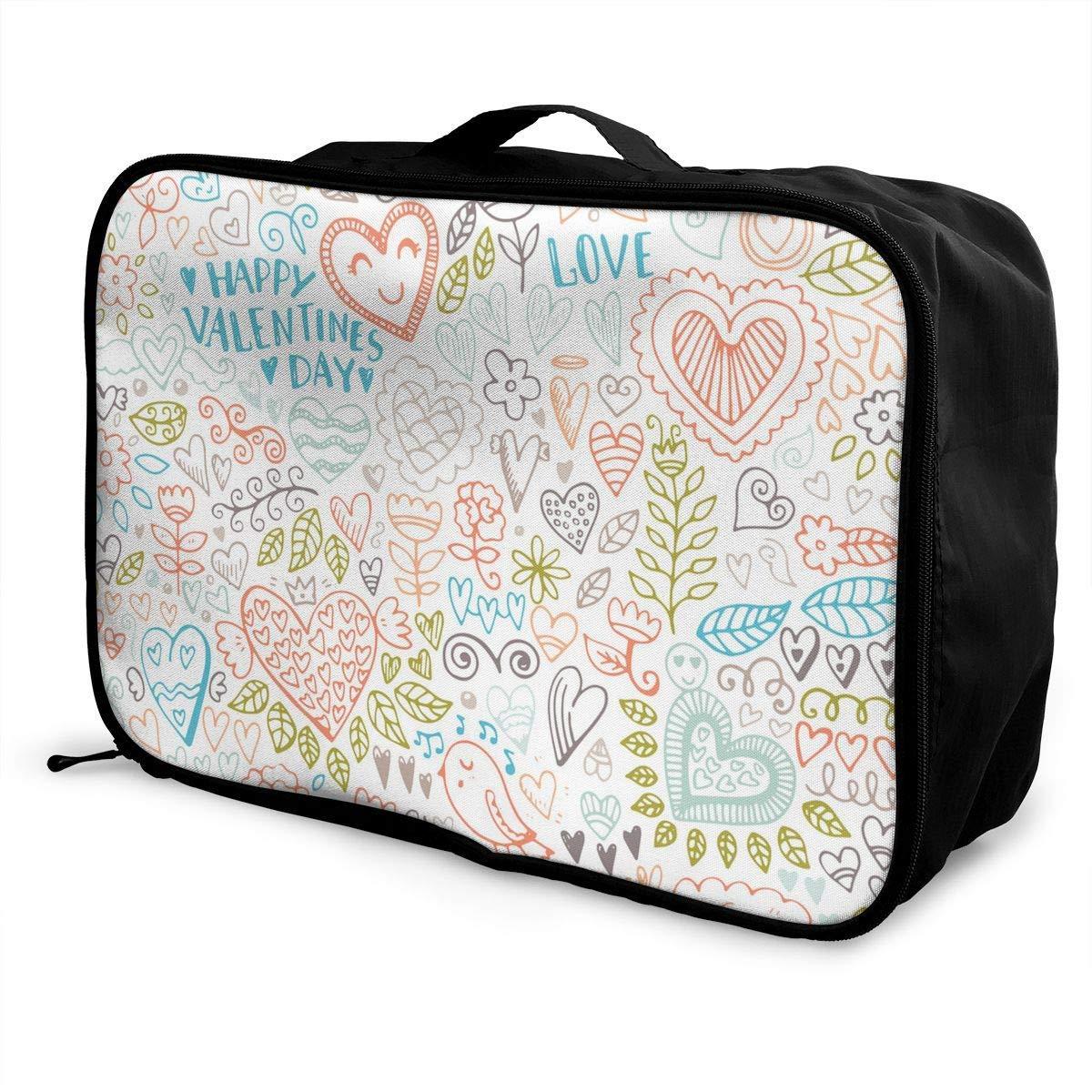 Love Heart Patterns Travel Duffel Bag Waterproof Fashion Lightweight Large Capacity Portable Duffel Bag for Men /& Women JTRVW Luggage Bags for Travel
