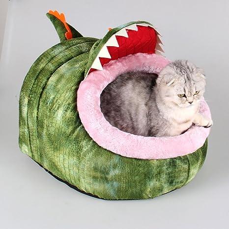 Kelaina Creative Pet - Alfombrilla de cama para perro, diseño de gato y gato,