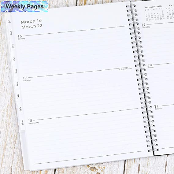 2019-2020 Academic Planner, Weekly & Monthly Planner, 12 Monthly Tabs, Twin Wire Binding, 9.2