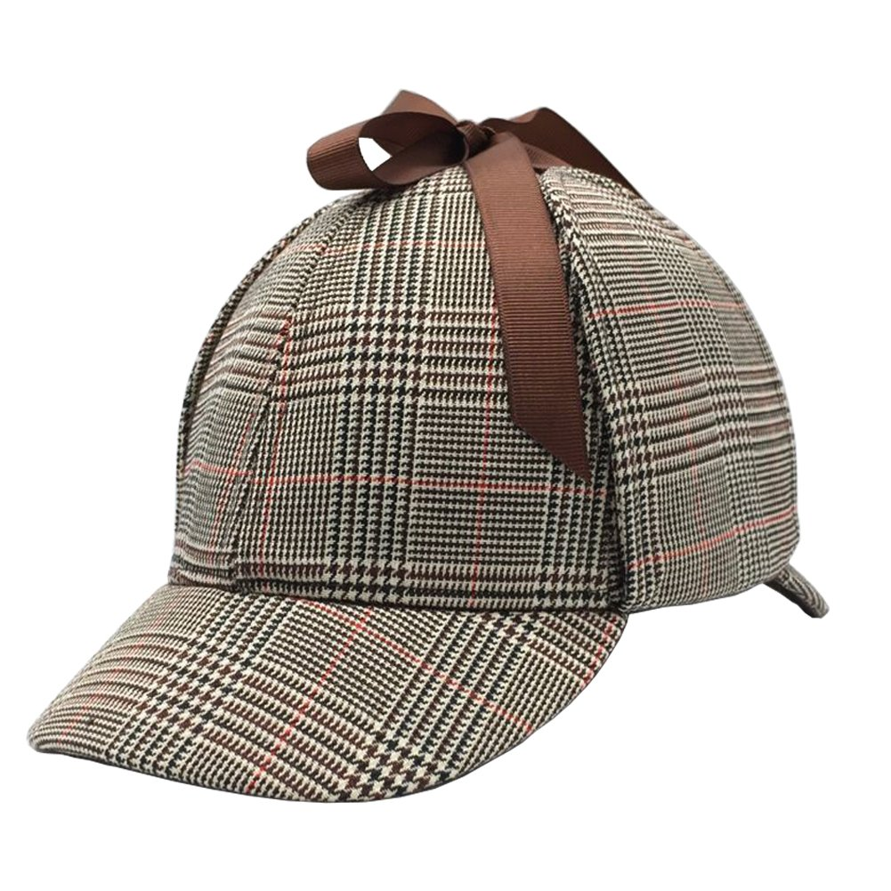 Sherlock Holmes Hat,Deerstalker Hat Classic Cos Play for Adults and Children