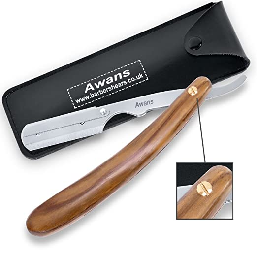 Straight Shaving Razor Handle, Cut Throat Barber Shaving Razor, Plain Wooden Design
