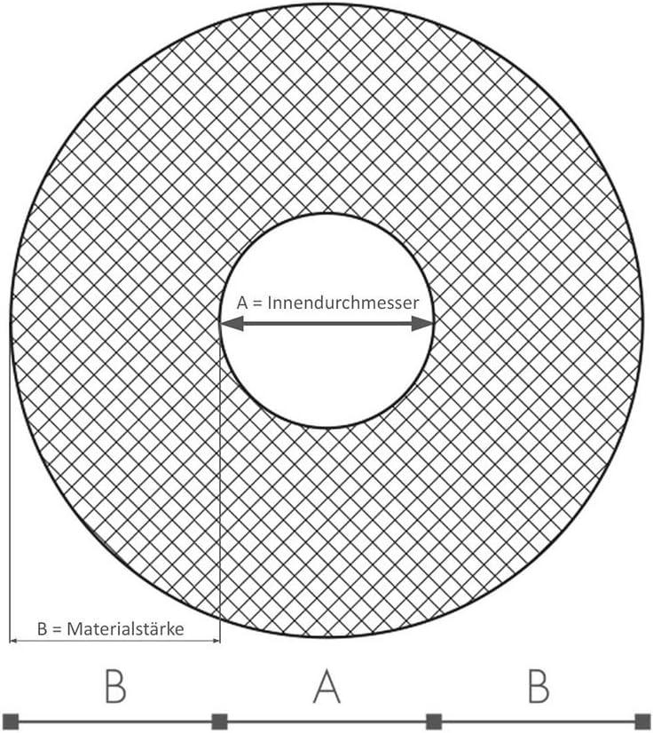 schwarz endlos Rohrdurchmesser 12mm x D/ämmdicke 9mm x 31m Rohrisolierung f/ür K/älte /& Klimatechnik