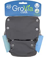 GroVia Cloth All-In-One Diaper, Cloud, One Size (Discontinued by Manufacturer)