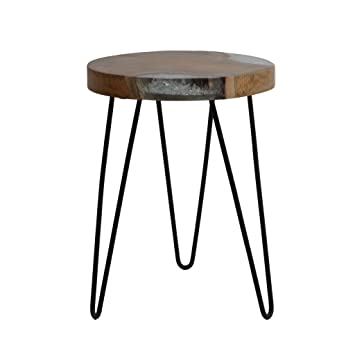 Amazoncom End Side Table Modern Contemporary EcoFriendly Round
