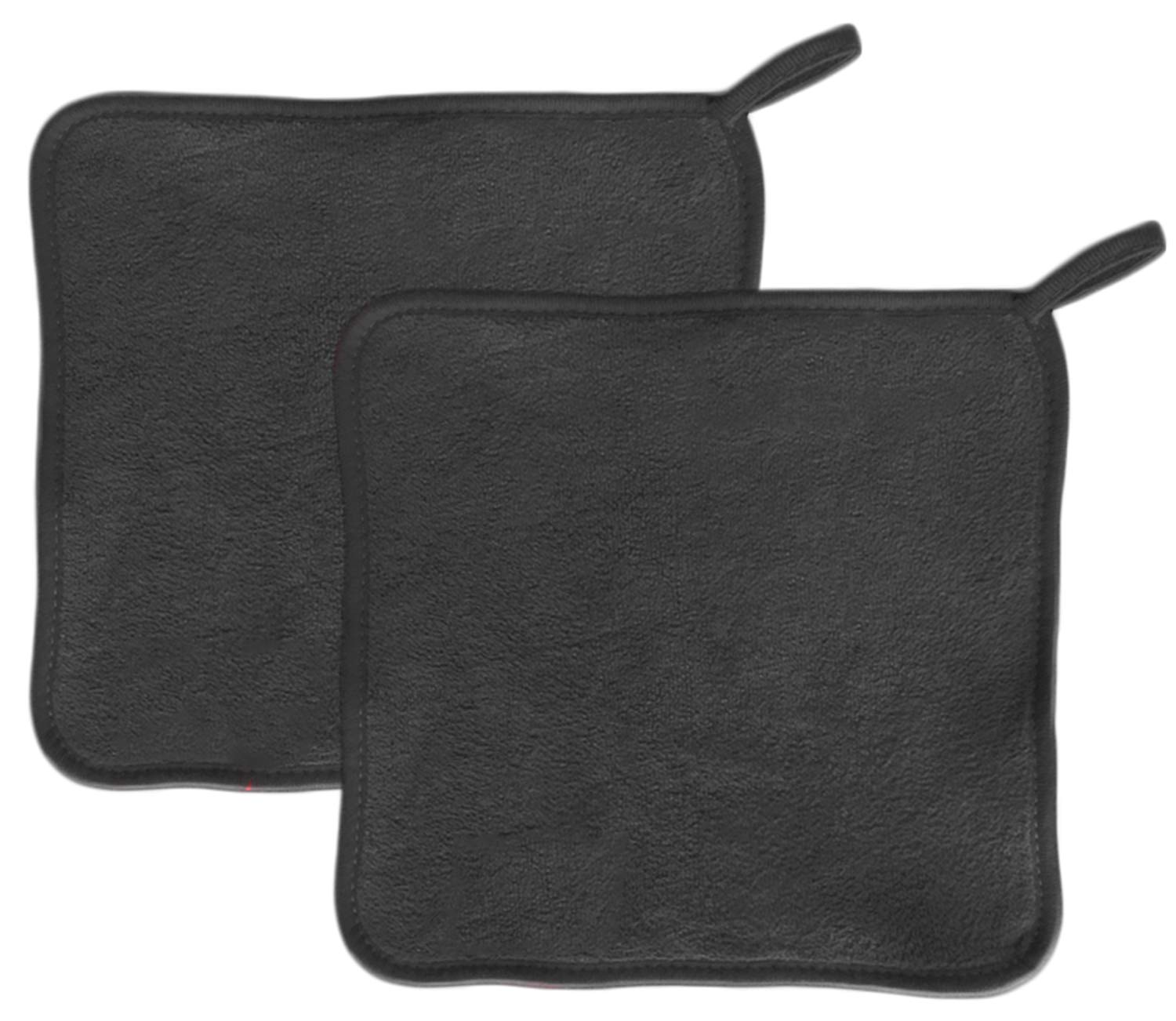 Makeup Remover Cloth (2 pack black) - Chemical Free Cleansing Towel - Wipes Face