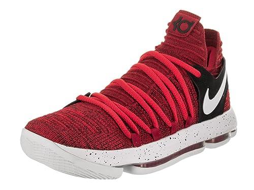 8996802ce1e6 Nike Men s Zoom KD 10 University Red Pure Platinum Basketball Shoe 11 Men US