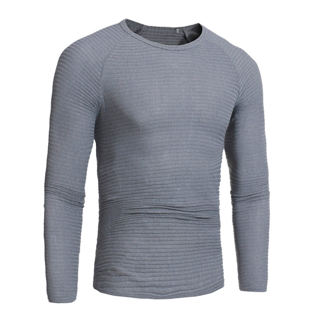 Sannysis Mens Activewear,Mans Autumn Winter Casual V-Neck Mens Slim Sweaters Tops Blouse