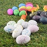 JIASTONE 6Pcs Dinosaur Egg Hatch Grow Water Magic Toy Fun Gift Pet Dino Growing Large New(Color Random)