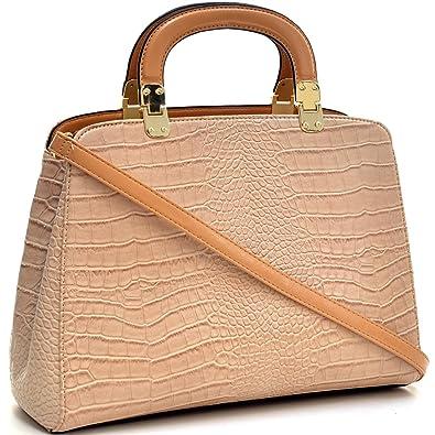 Amazon.com  Dasein Faux Croco Leather Hinge Handle Laptop 818cc0cc3930c