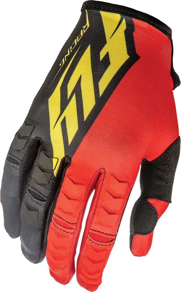Fly Racing Unisex-Adult Kinetic Gloves Red//Black//Yellow Size 3 369-41303