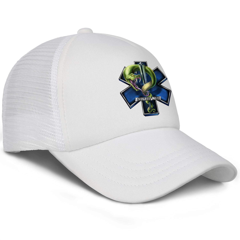 BertonMonroe Star of Life with Snake Wash Adjustable Baseball Caps Dad Baseball Cap