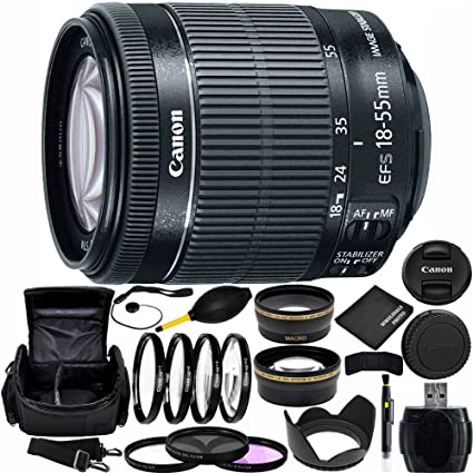 Canon EF-S 18 - 55 mm f/3,5 - 5,6 IS STM Lente (White Box)