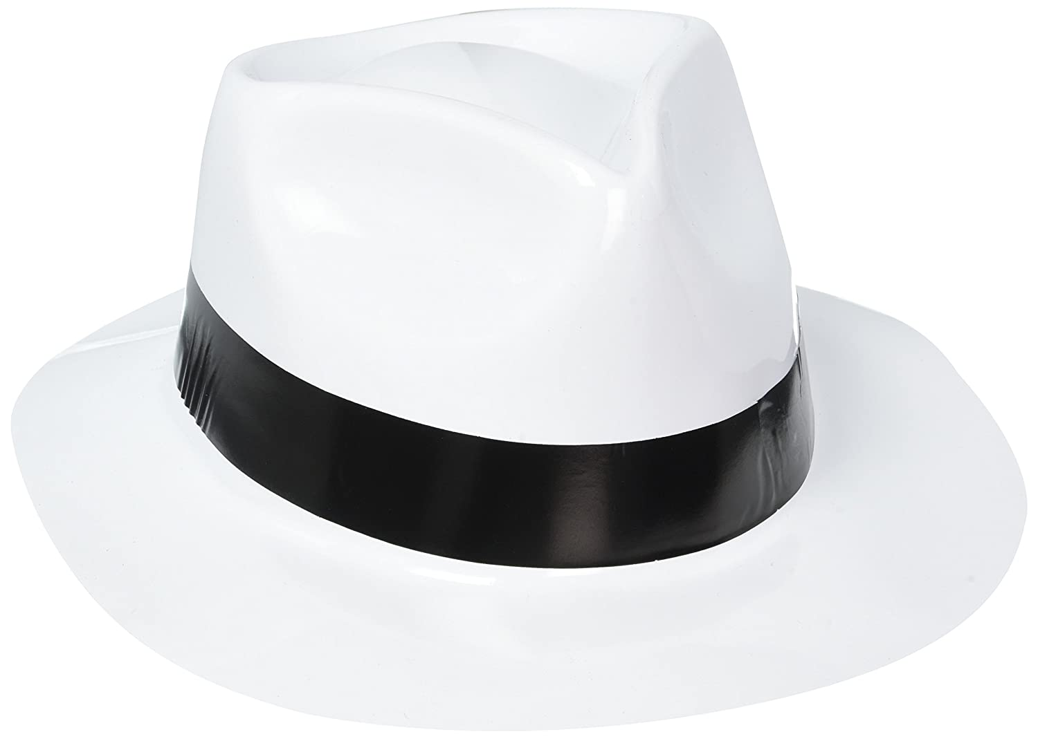 Amazon.com  Amscan 250259 50 s Theme Party Fedora Hat One Size Multicolor   Kitchen   Dining 22d6447f5a3