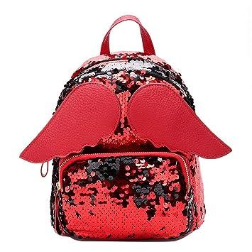 Tianba Pequeña Lentejuelas Mochilas Moderna Casual Bolsas Colegio Estanca Mochila Diaria Mujer Simple Backpack Clasicas Fashion Bolsa De Estudiante: ...