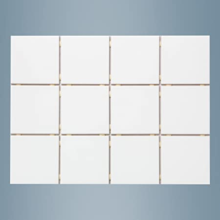 Bianco Lucido Carrelage Mural Blanc Brillant 10 X 10 Cm Gres Carreaux 1 M Amazon Fr Bricolage
