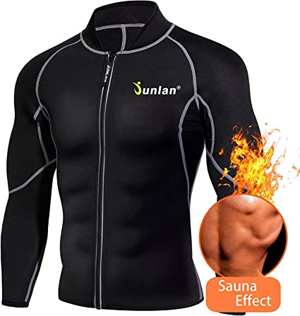 Men/'s Weight Loss Workout Neoprene Body Shaper Sweat Sauna Suits Exercise Vest
