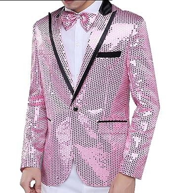 Amazon.com: CoolRed para hombre lentejuelas color puro lujo ...