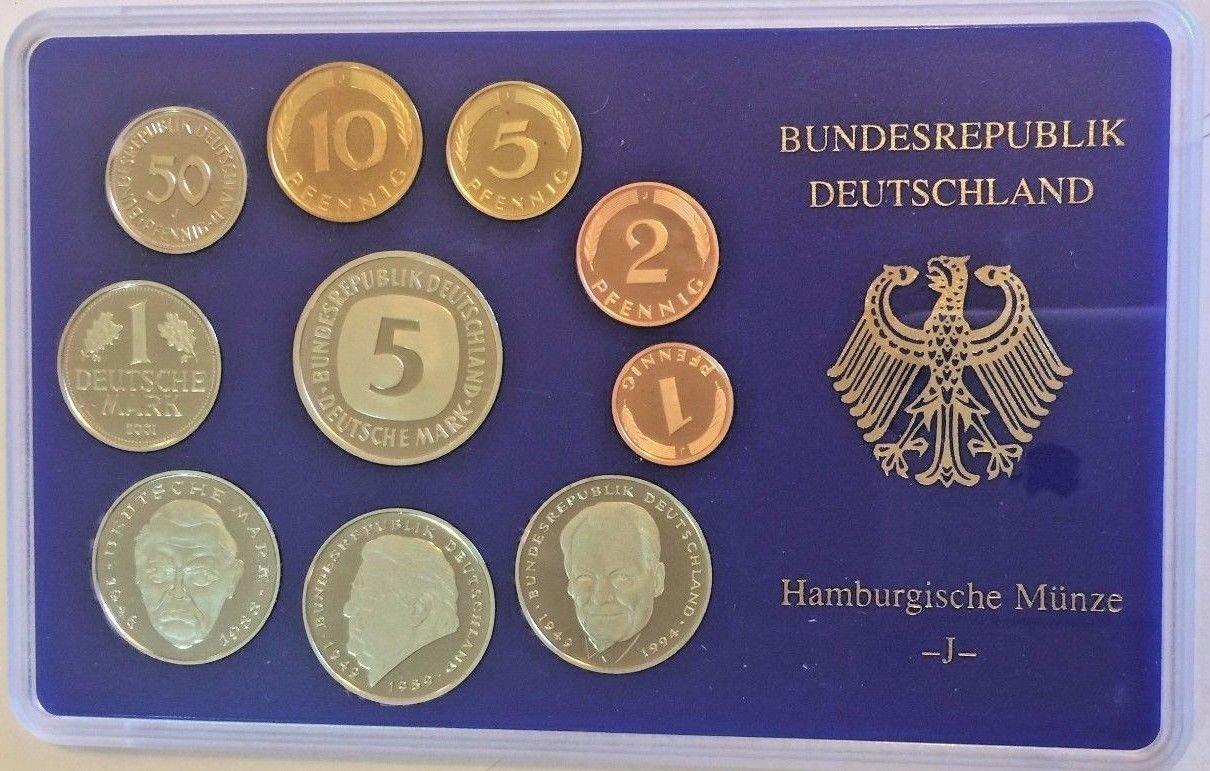 De 2001 2001 J Germany Deutsche Mark Coin Set Special Edi Good At