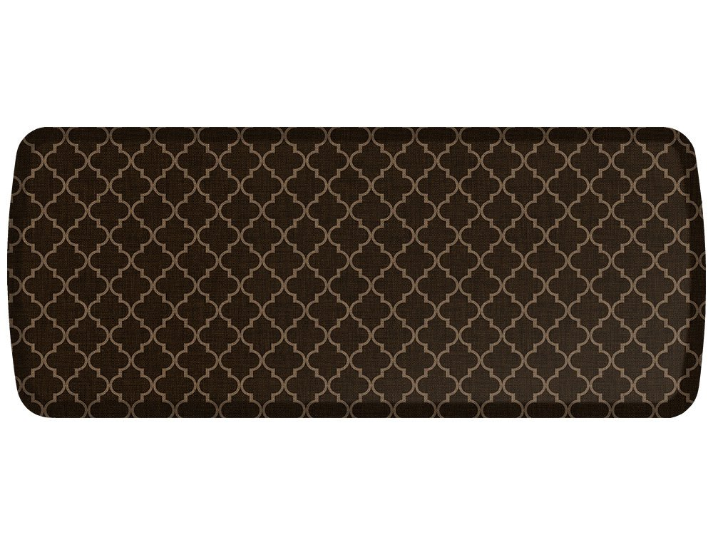 "GelPro Elite Premier Anti-Fatigue Kitchen Comfort Floor Mat, 20x48"", Lattice Java Stain Resistant Surface with Therapeutic Gel and Energy-return Foam for Health and Wellness"