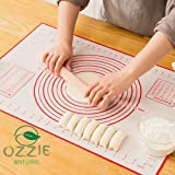Silicon Baking mat by Ozzie Natural, Reusable Non Stick Dough Mat with Measurement for Pastry Rolling and Other Recipes…