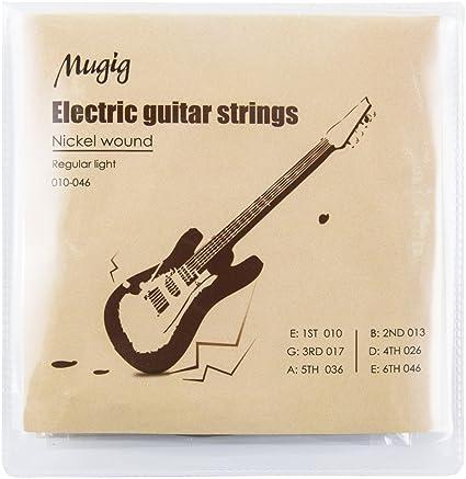 Mugig Juego de Cuerdas para Guitarra Eléctrica 6 Cuerdas de Acero ...