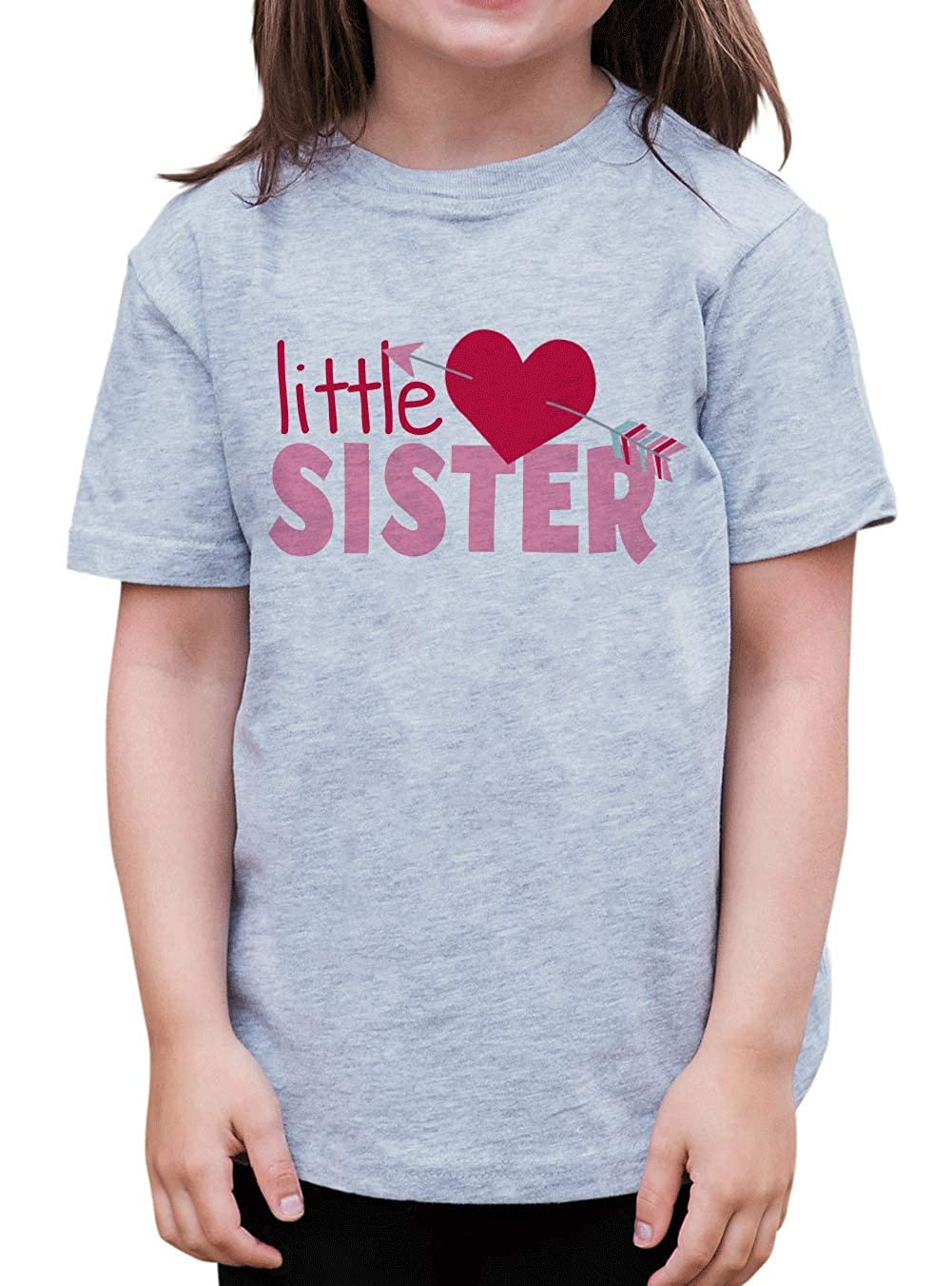 7 ate 9 Apparel Girls Little Sister Happy Valentines Day T-Shirt