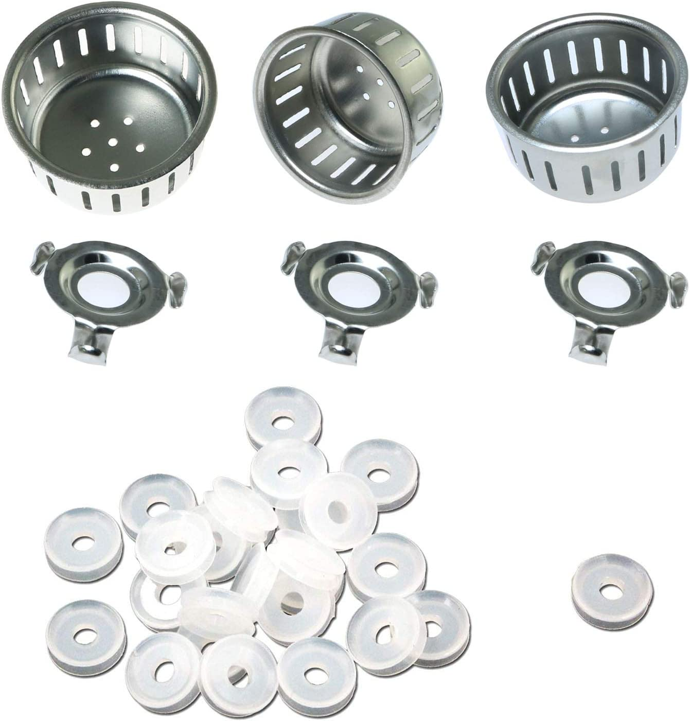 TOTOT 20pcs Float Valve Gaskets Electrical Pressure Cooker Replacement Parts and 3 Sets Anti-Block Shield for Instant Pot