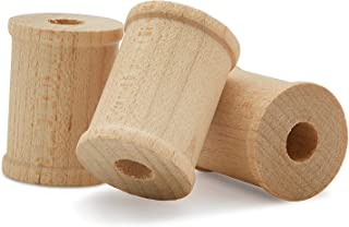 product image for Wood Spools 1 x 3/4-inch Pack of 50, Small, Splinter-Free, Birch Wood Spools for Crafts and Unfinished DIY Wood Projects