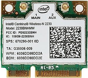 Slaxry Mini Intel 2230 300M wireless card Wireless-N WiFi Card Bluetooth 4.0 670290-001 for HP Compaq Laptops