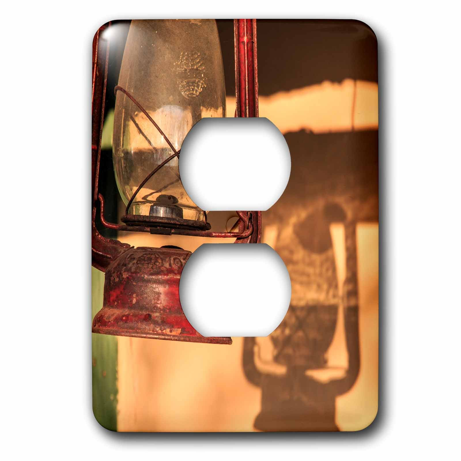 3dRose Danita Delimont - Lamps - Romania, Maramures, Baia Spire, Pottery workshop. Lantern. - Light Switch Covers - 2 plug outlet cover (lsp_277879_6)