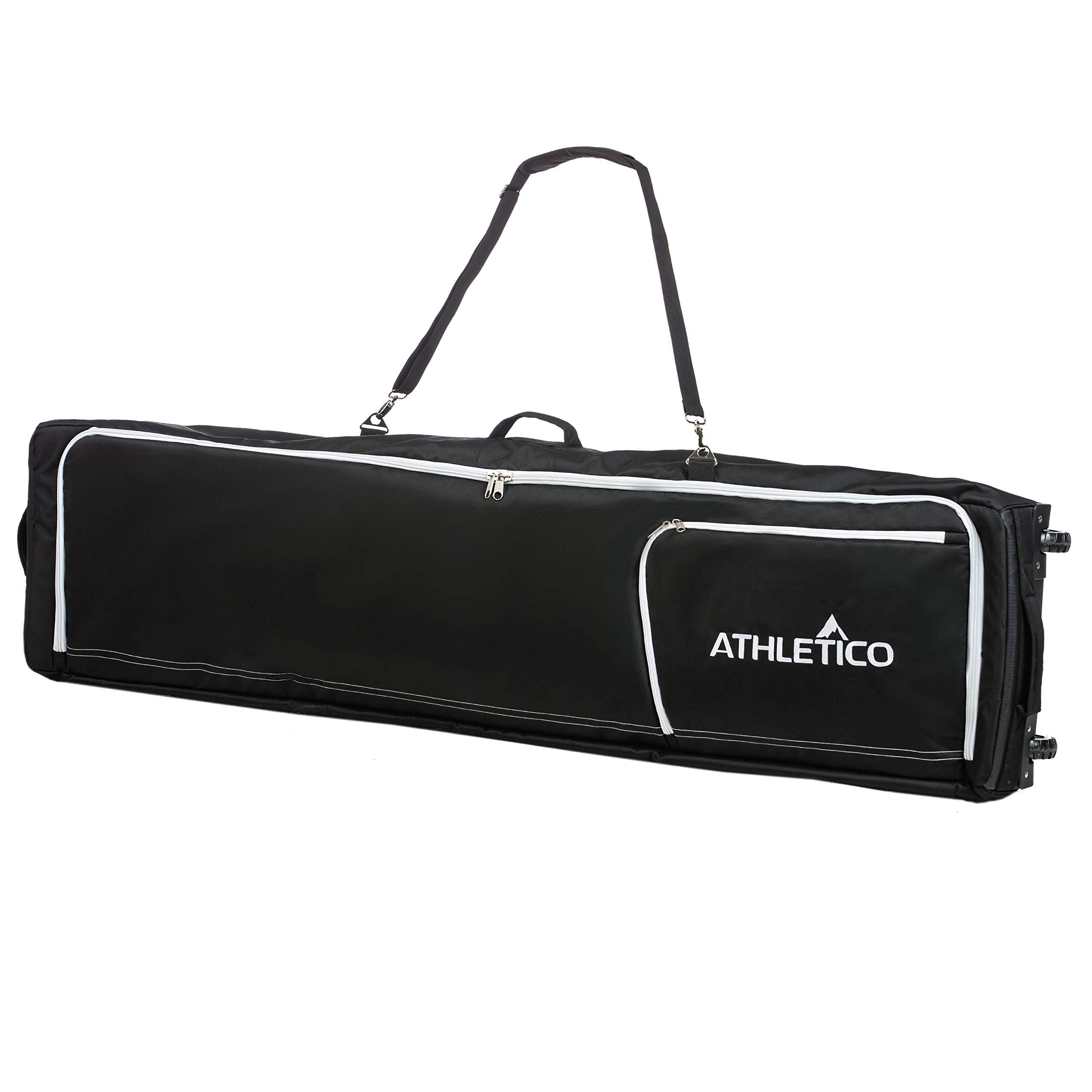 Athletico Conquest Padded Snowboard Bag with Wheels - Travel Bag for Single Snowboard and Snowboard Boots (Black, 157 cm)