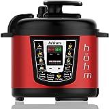 Hohm Pressure Cooker Pro, Multi-Functional Electric Pressure Cooker 6 Quart 8 Preset Settings 1000 Watt (Red)