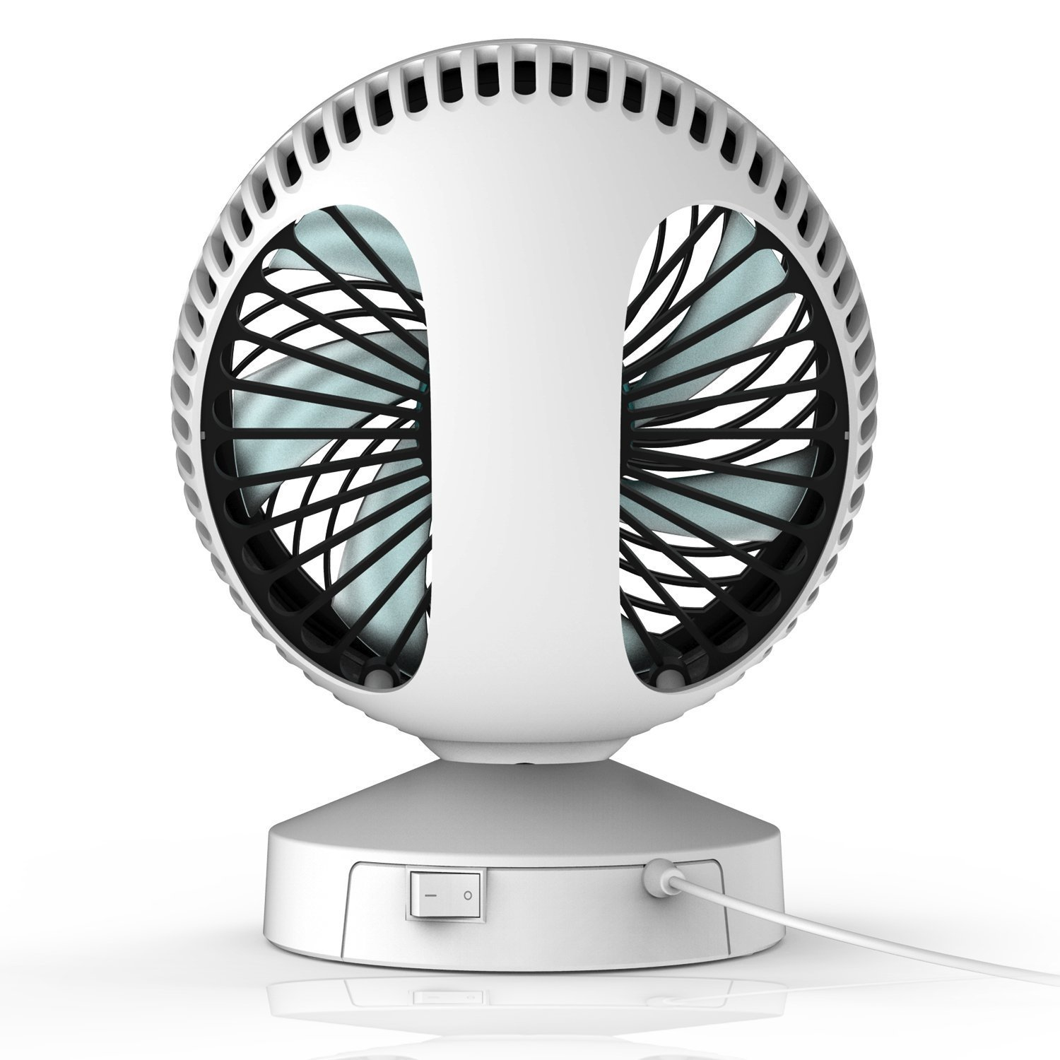 new product b9ee0 5933c ... Technologie Air Multiplier Garantie 2 ans Blanc Argent, KLIM Breeze -  Ventilateur de Bureau USB Haute Performance - Ventilo de Table - Silencieux  et ...