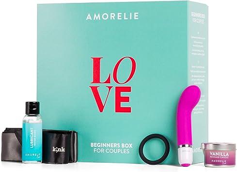 Caja de regalo de AMORELIE para parejas: juguetes y accesorios ...